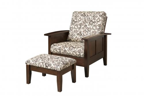 Shaker Petite Morris Chair and Ottoman