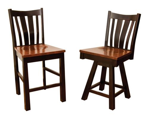 Trenton Bar Chair and Swivel Barstool