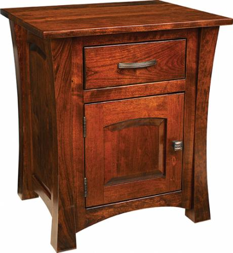 Woodbury Nightstand - 1 drawer and 1 door
