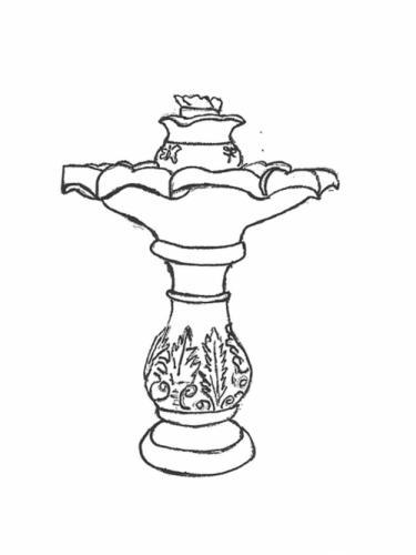 """European Fountain - 23"""" diameter x 36"""" high"""
