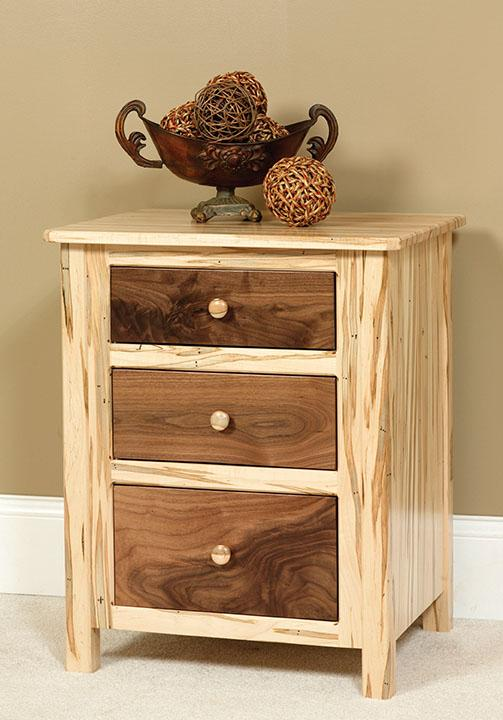 Cornwell Nightstand with 3 drawers, two-toned