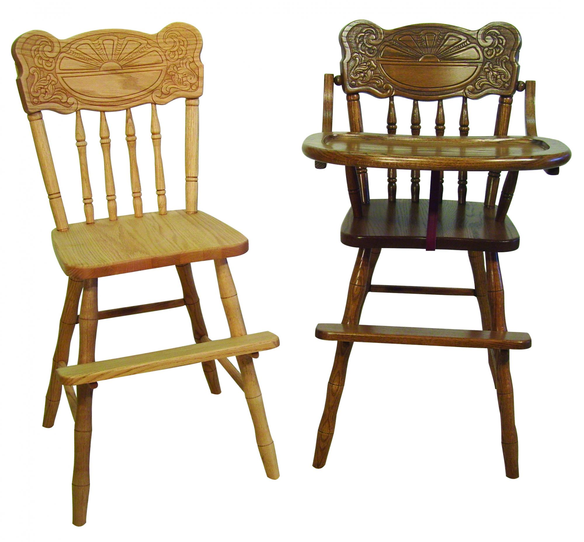 Child's Chair and High Chair
