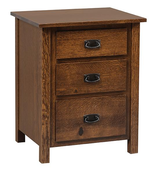 Elkins Nightstand with 3 drawers