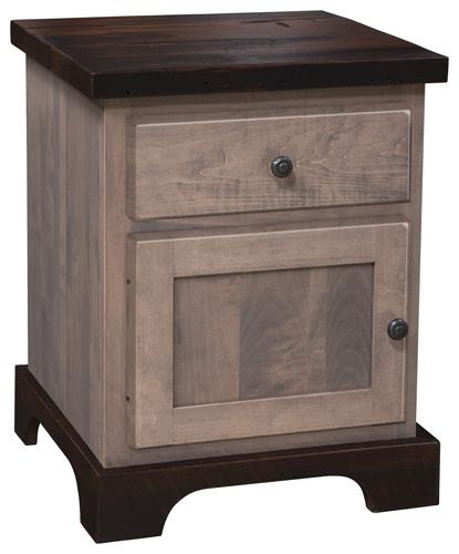 Manchester Nightstand - 1 drawer and 1 door