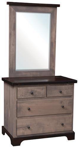 Manchester Narrow Dresser with mirror