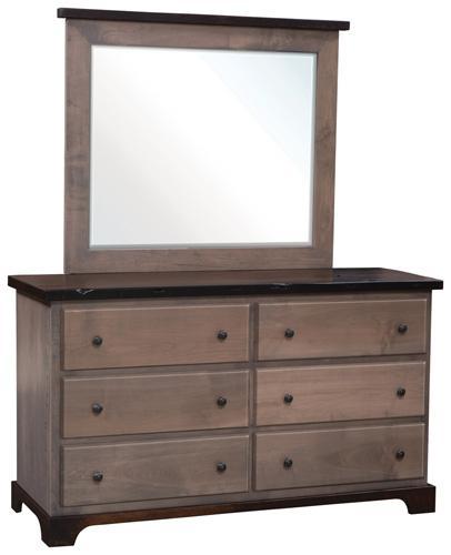 Manchester Low Dresser with mirror