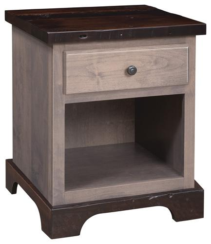 Manchester Nightstand - 1 drawer, open