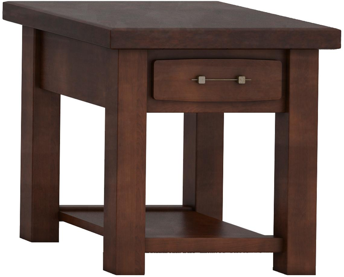 Barn Floor Office Collection Square Table with low shelf