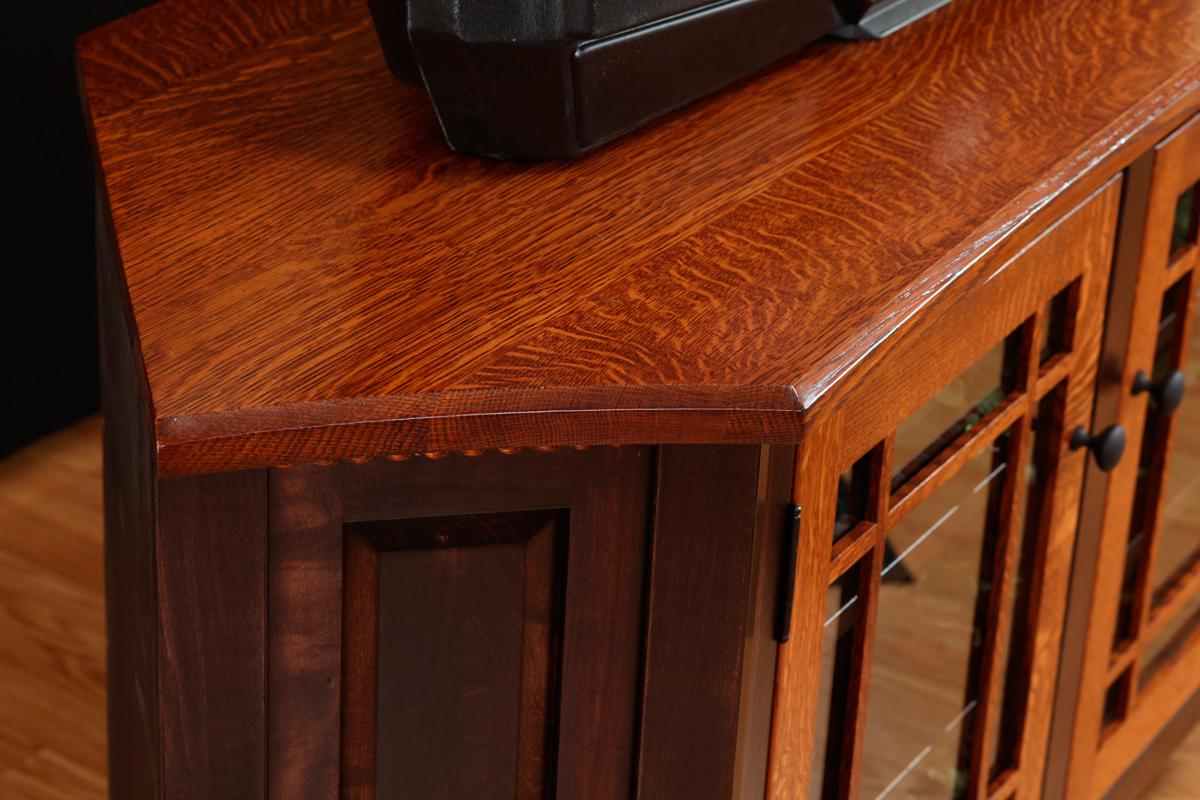 Bunker Hill 2-Tone Corner TV Stand - detail