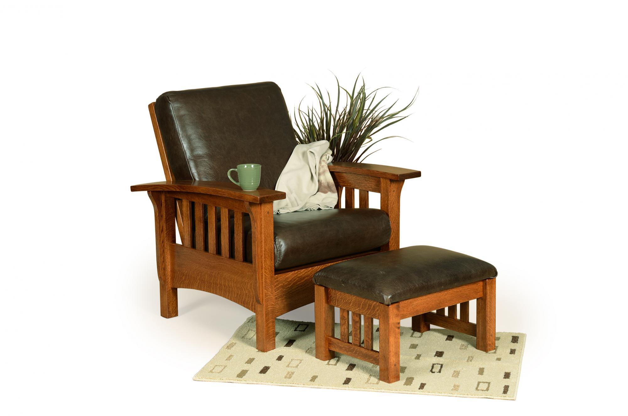 Classic Mission Morris Chair and Ottoman