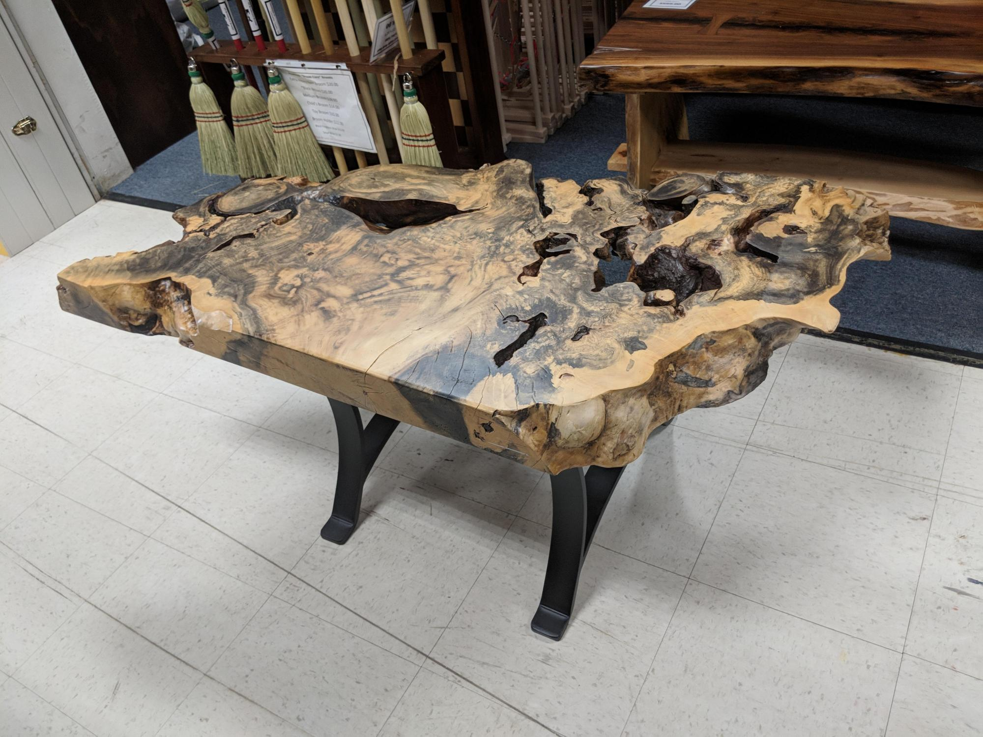 Live Edge Burl Occasional Table