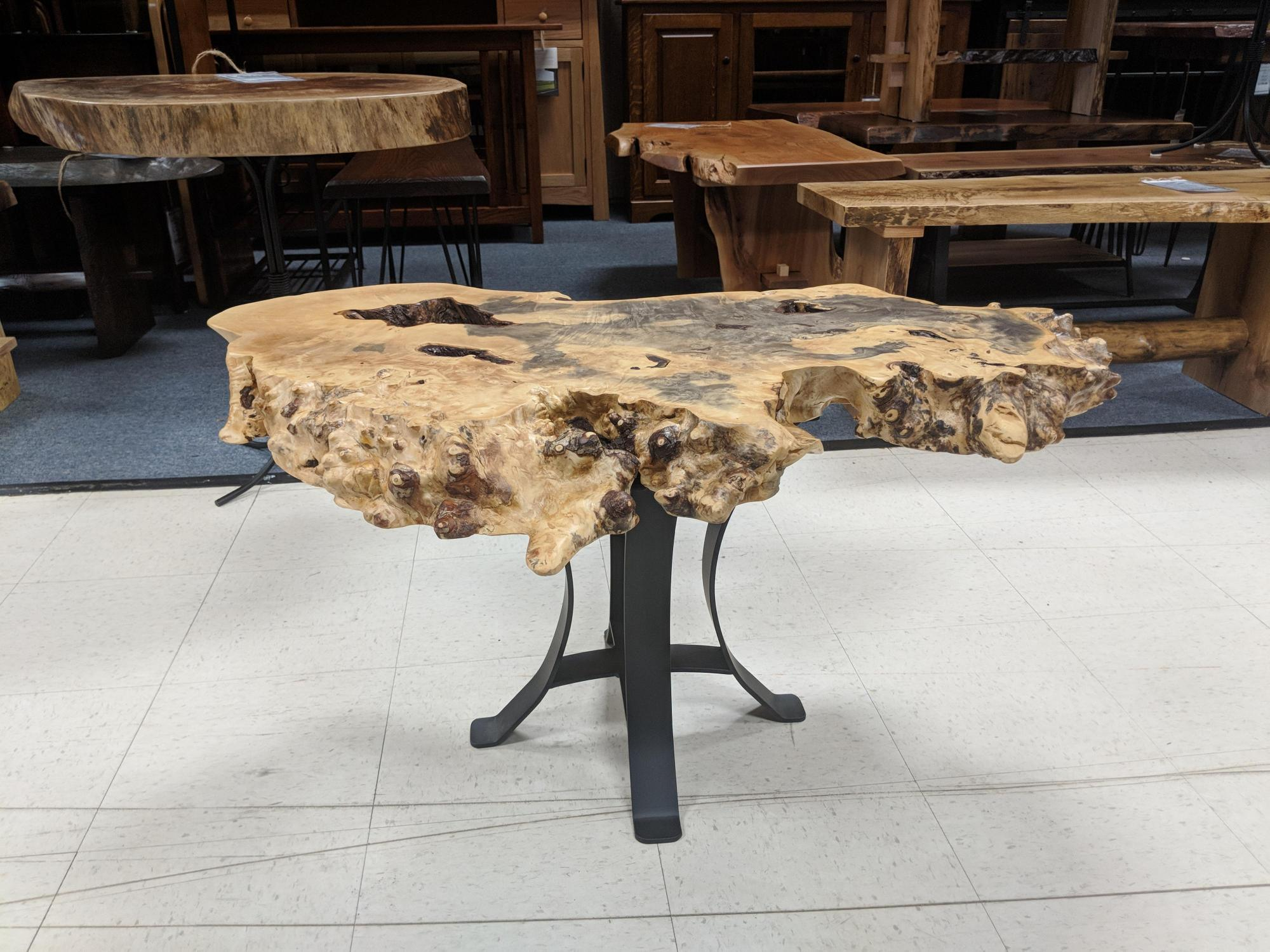 Burl Live Edge Occasional Table