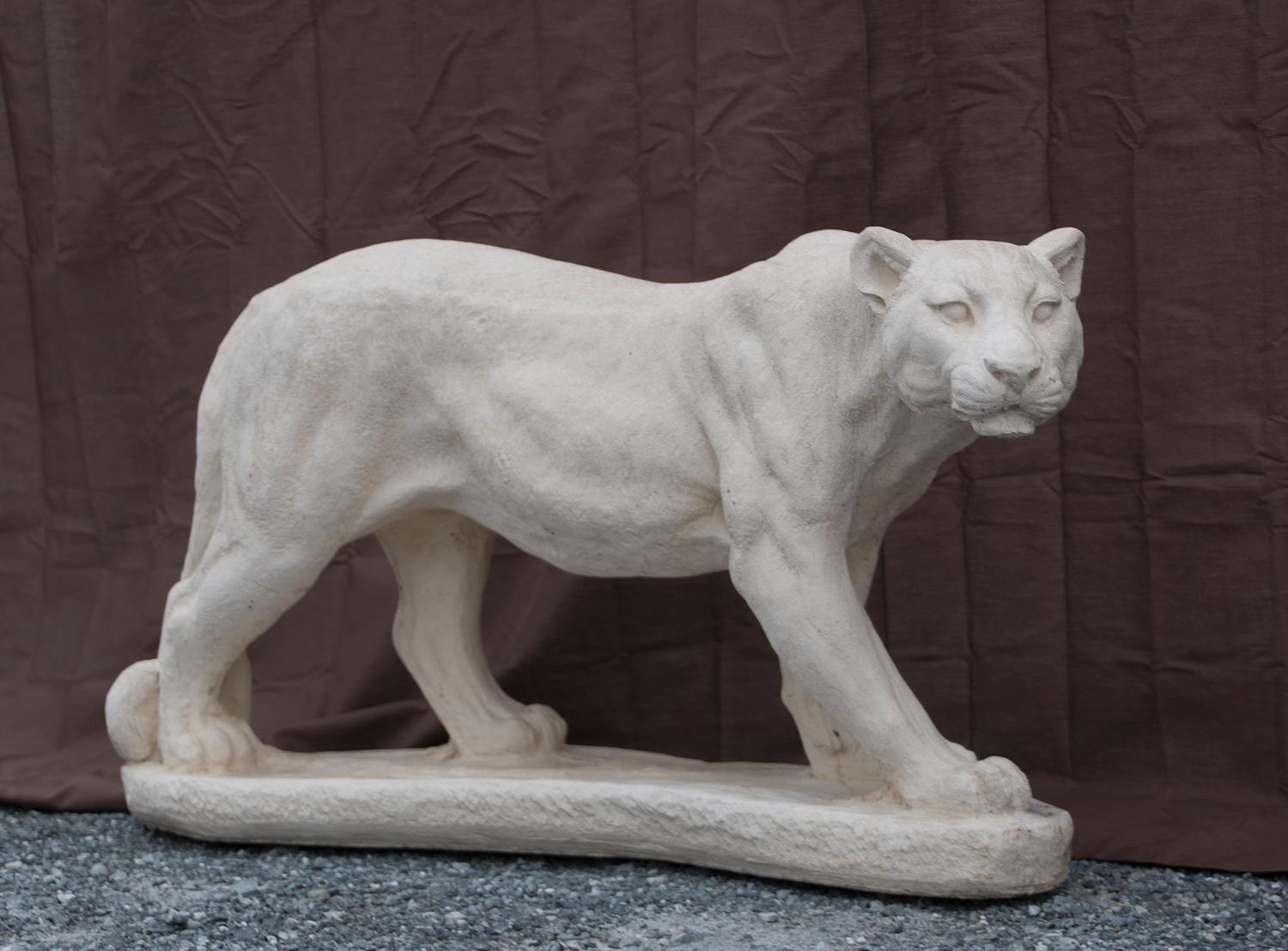 "Standing Cougar - 16"" high, 32"" long"