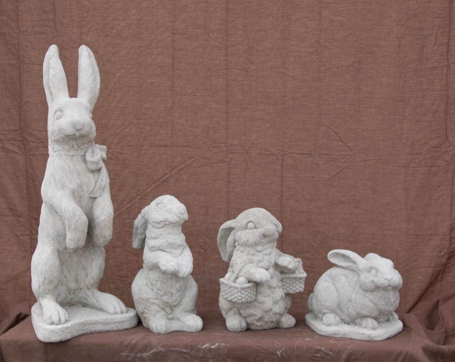 Thumper Rabbit - Rabbit Standing Ears Back, Bunny with Basket, Detailed Medium Rabbit