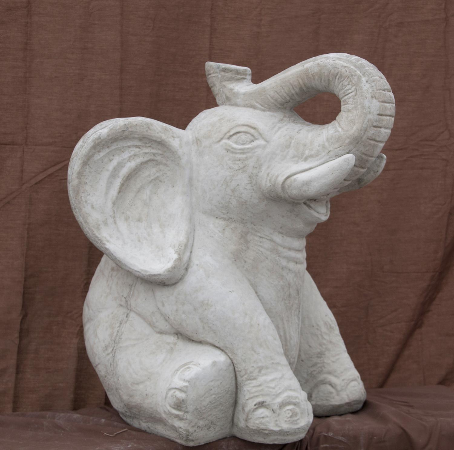 "Sitting Elephant - 20"" high"