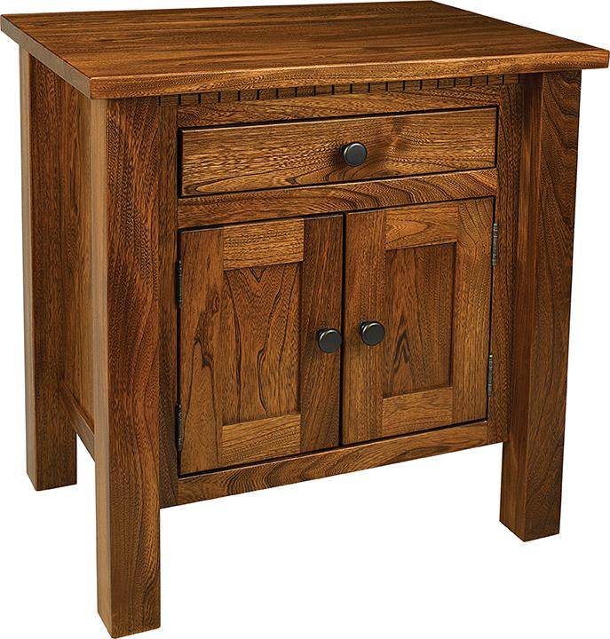 Lindholt Nightstand with 1 drawer and 2 doors