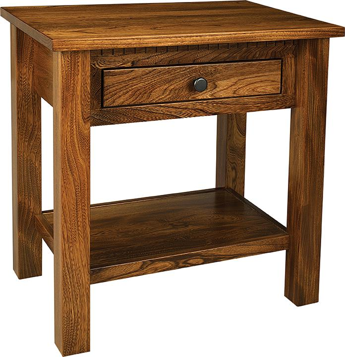 Lindholt Nightstand with 1 drawer and 1 shelf