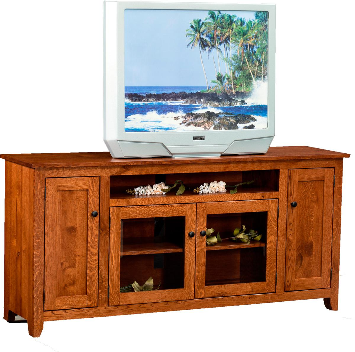 Modern Mission TV Stand - wide