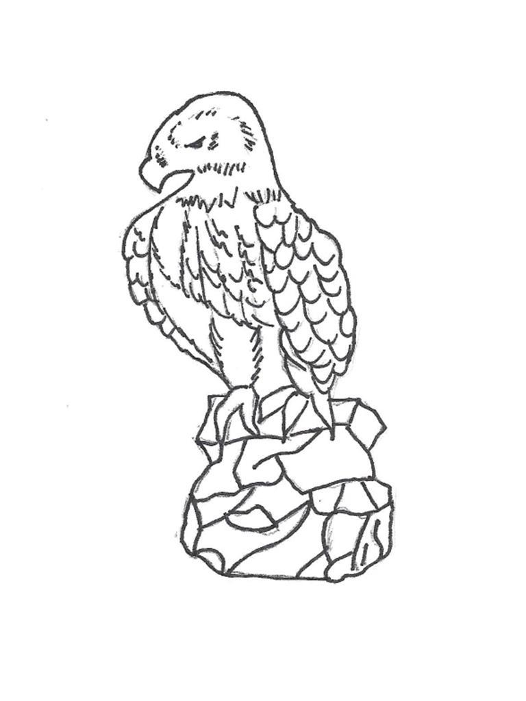 "Eagle on Rock - 29"" high"