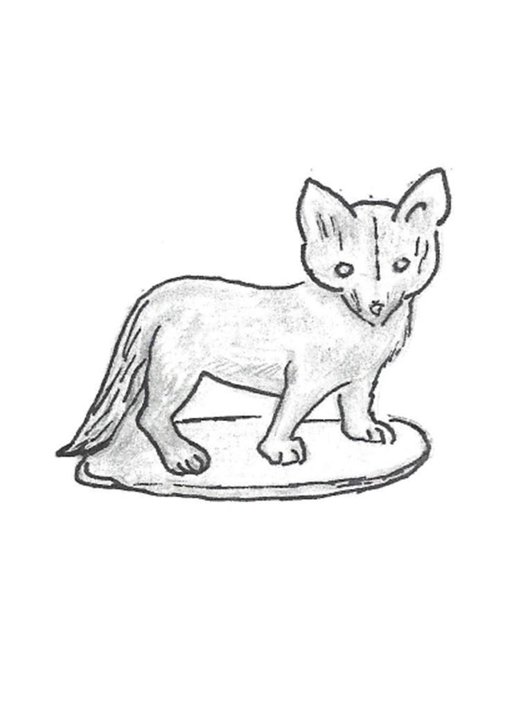 """Fox Cub - 9 1/2"""" high"""