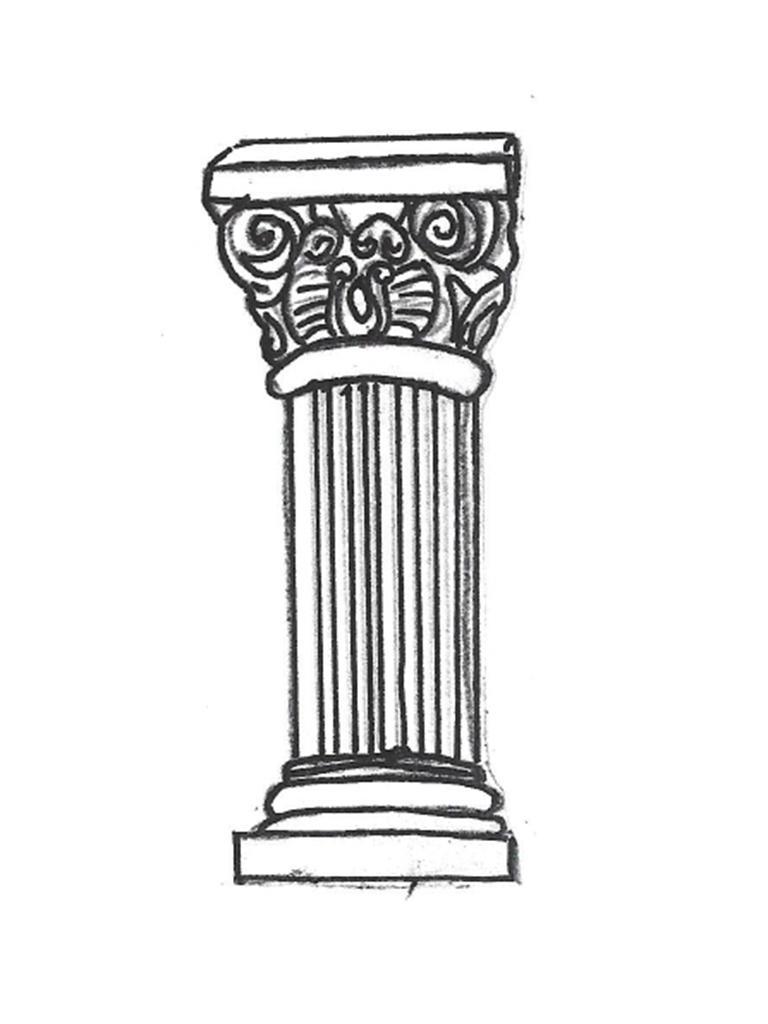 """Roman Pedestal - 24"""" high"""