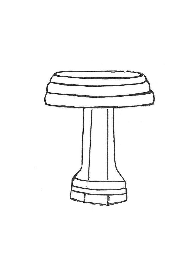 "Sharpe Sr. Bowl - 18"" diameter, Small Lamppost Base - 19"" high"
