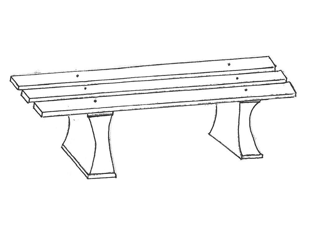 Three-Board Bench with ODW lumber