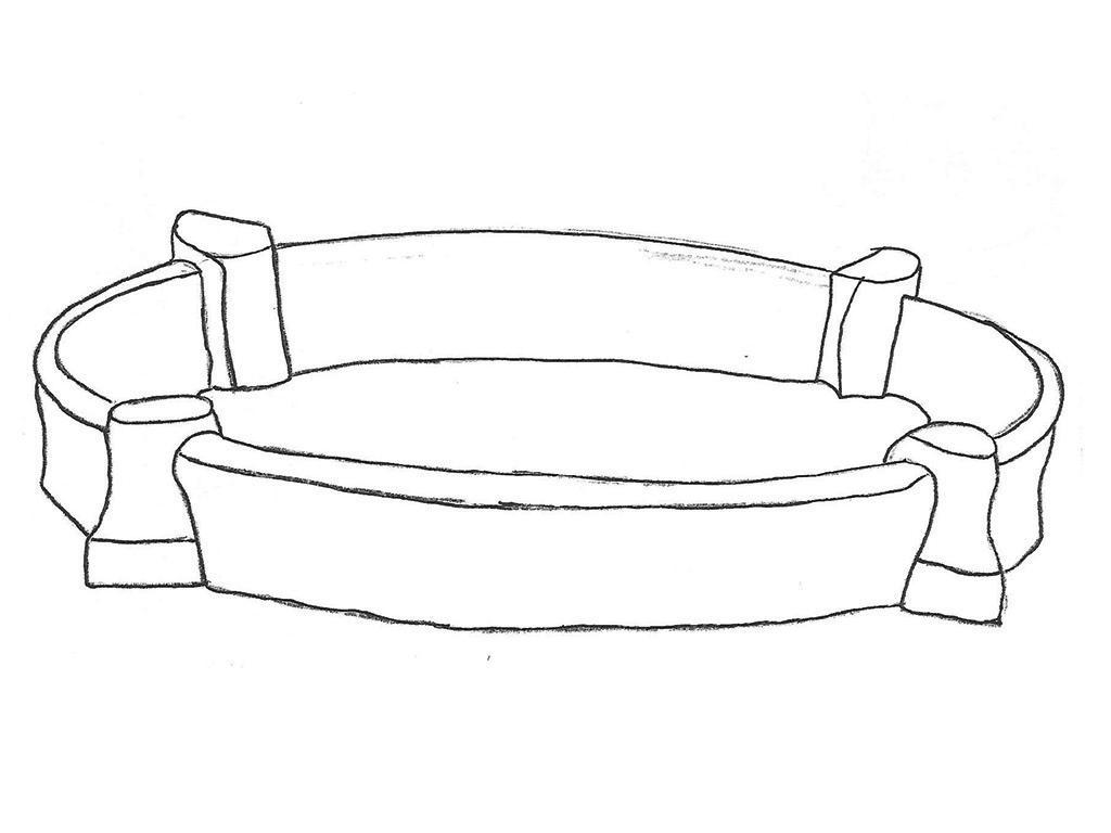 "Pool Surround - 71"" diameter, 10 1/2"" high"