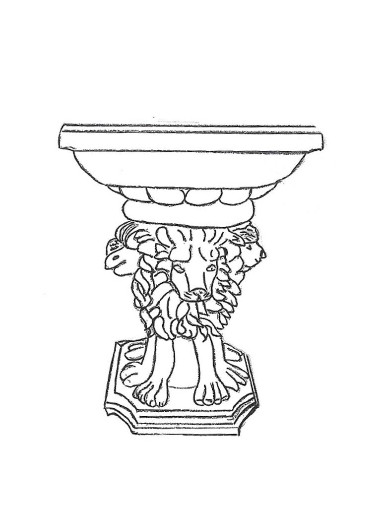 "Lion Stand - 20"" high"