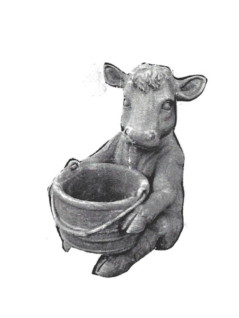 "Cow Planter - 10"" diameter, 13"" high"