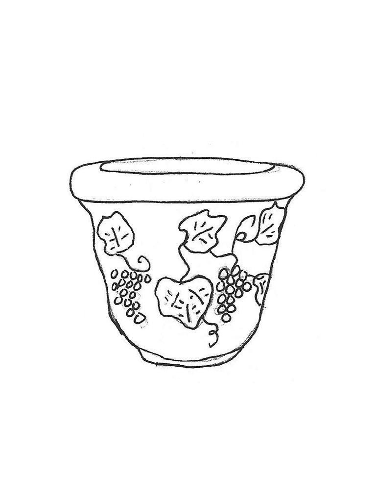 "Small Grapevine Pot - 13"" diameter, 10"" high"