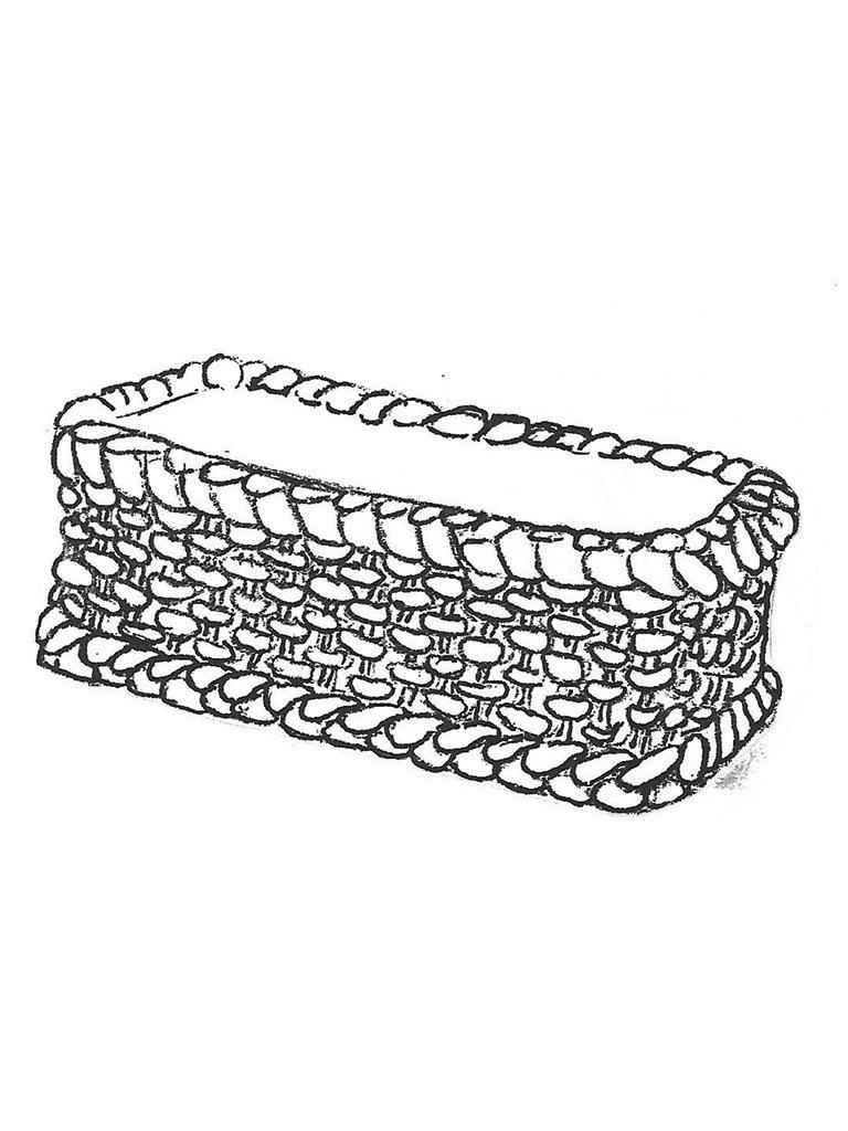 "Rectangular Weave Basket - 12"" x 23"" x 9"" high"