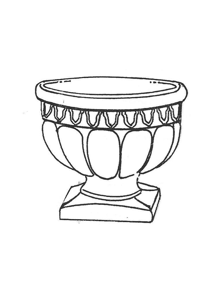 """Roman Sr. Pot - 24"""" diameter, 21"""" high"""