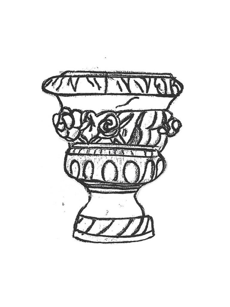 "Rose Vase - small, 16"" diameter, 17 1/2"" high"