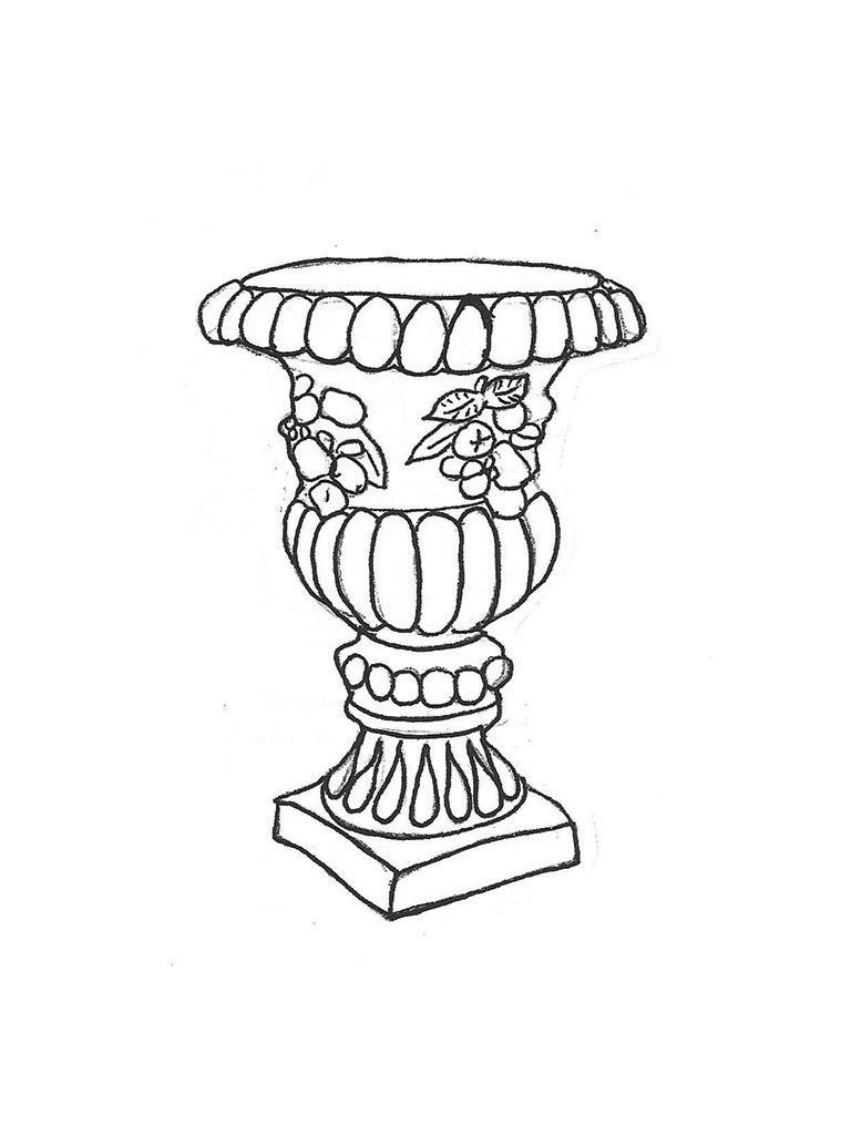 "Royal Urn - 20"" diameter, 27"" high"