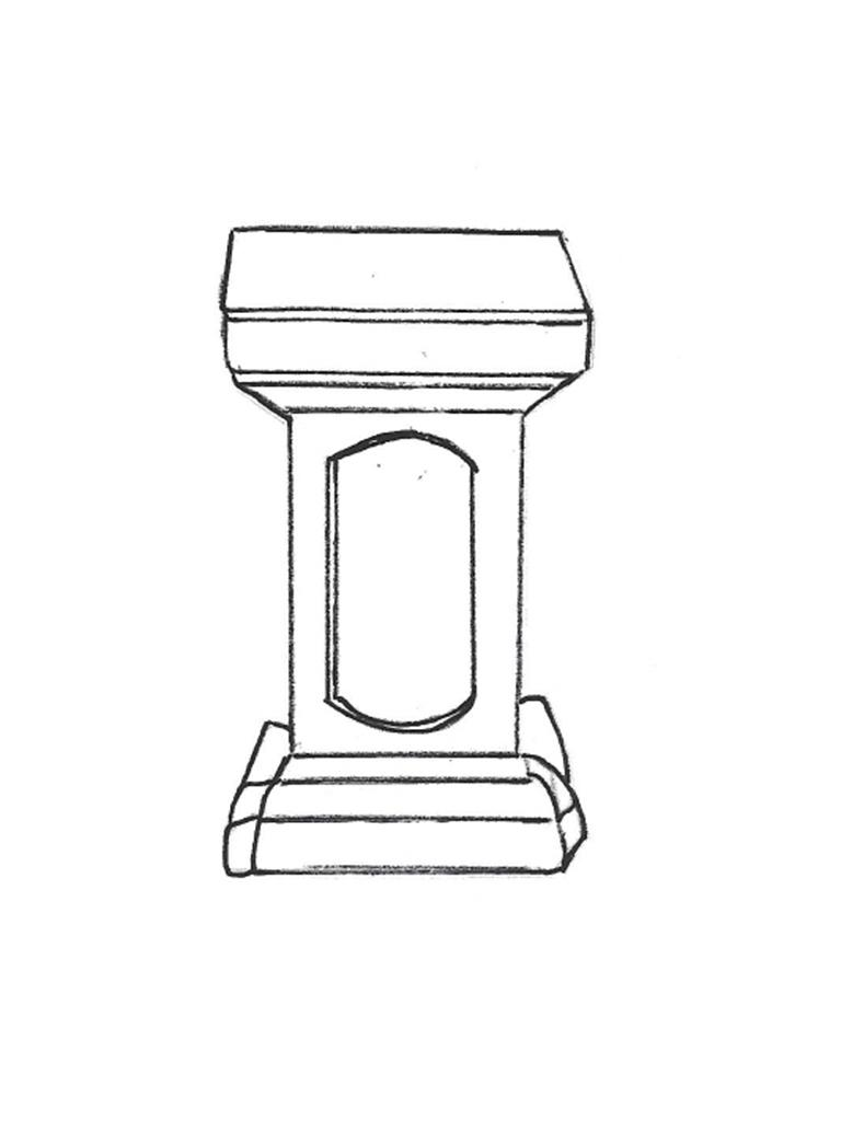 "Colonial Pedestal - 14"" high"