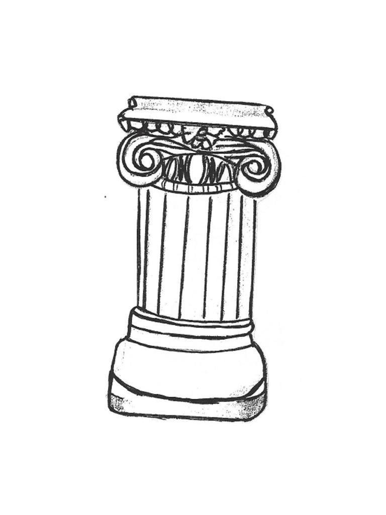 """Fluted Column - 12"""" x 12"""" x 25"""" high"""