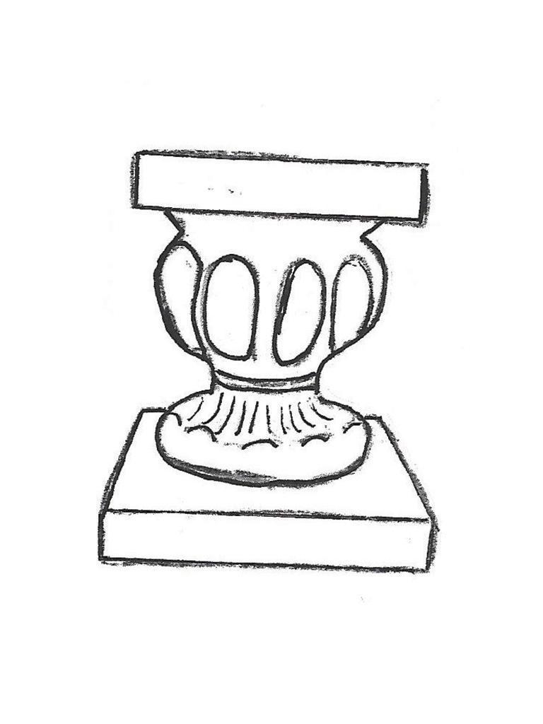 """Roman Pedestal - 10"""" diameter, 12"""" high"""