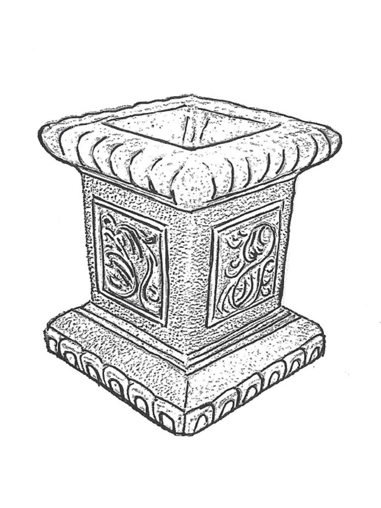 "Scroll Pedestal - 16"" high"