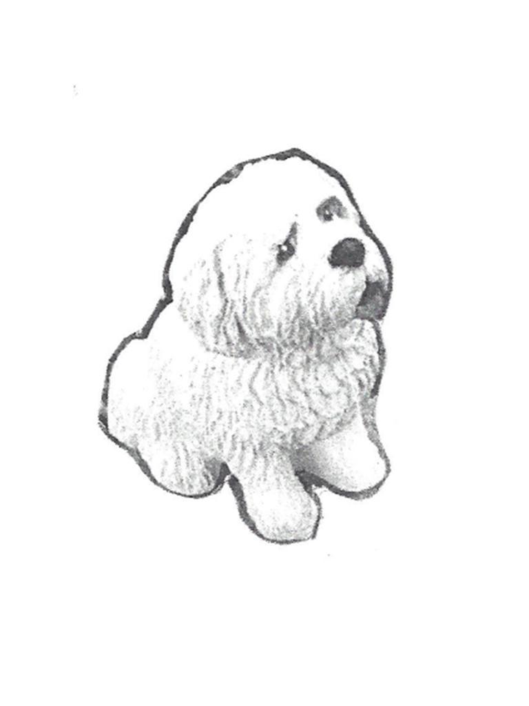 """Bischon Dog - 15"""""""