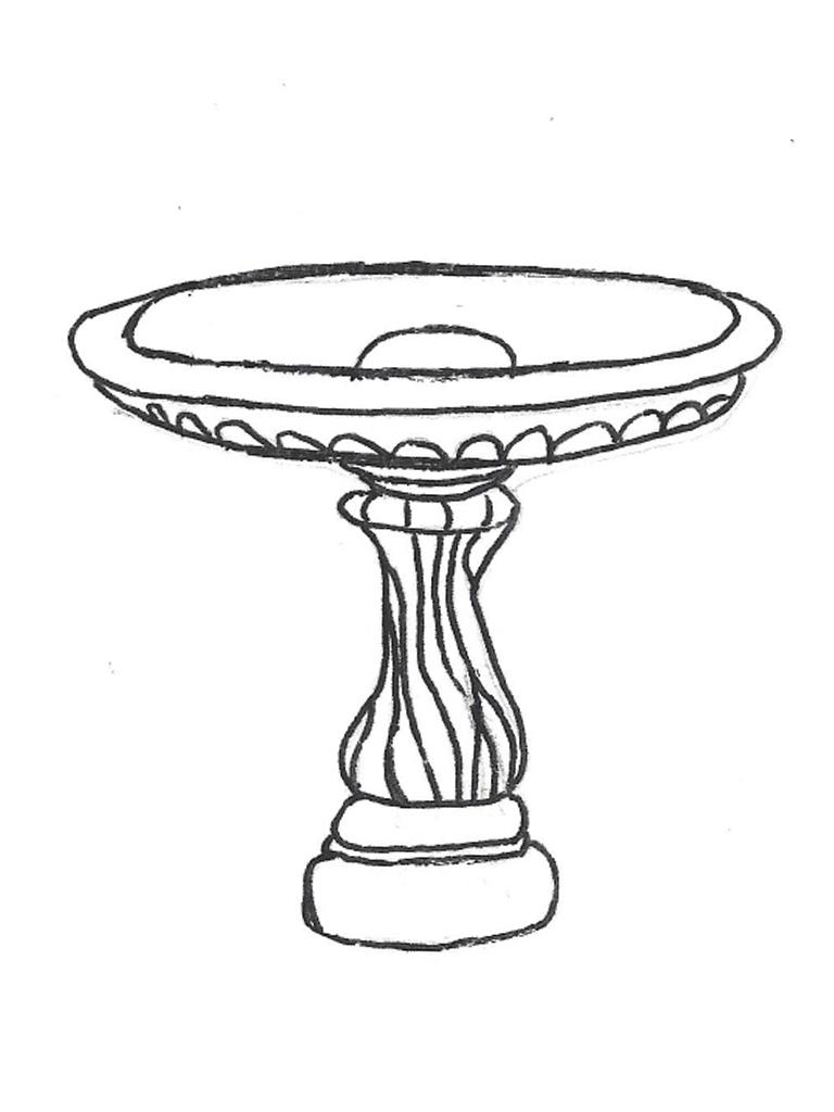 """Festooned Bowl - 28"""" diameter, Medium Swirl Base - 21"""" high"""