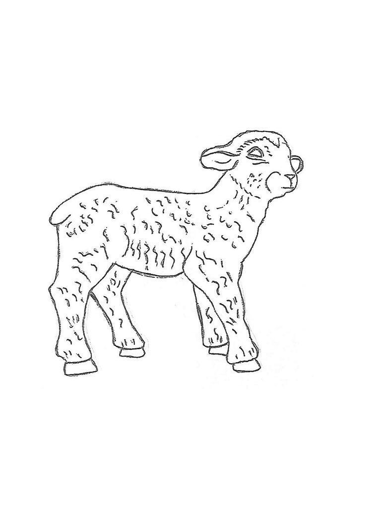 "Lamb Standing - 12"" long"