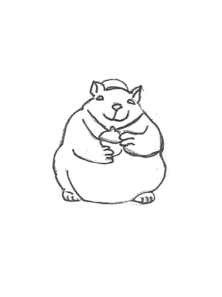 "Fat Squirrel - 10"""