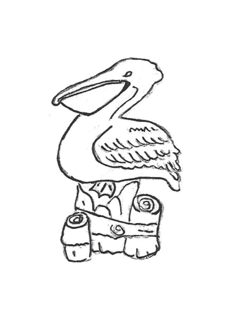"""Pelican with Post - 14"""""""