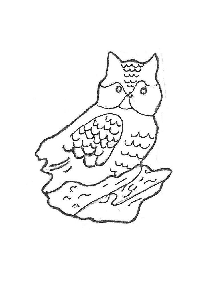 """Horned Owl - 14"""""""