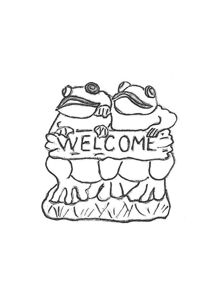 Two Frog Welcome - 10""
