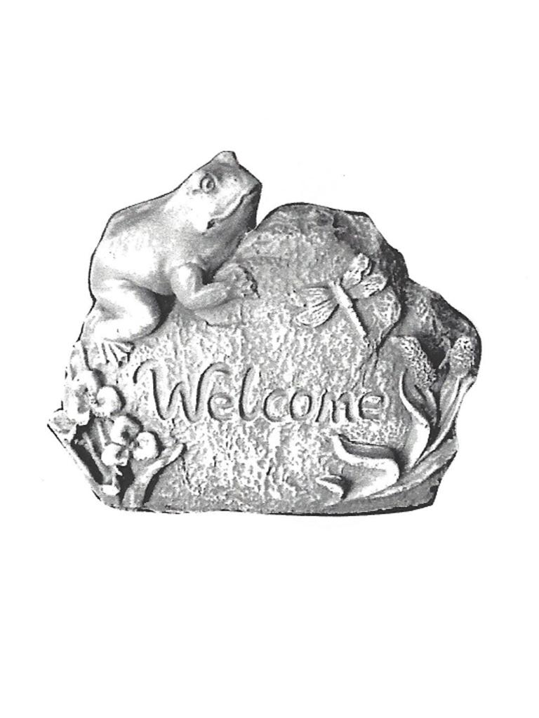 "Frog Welcome - 5"" high"