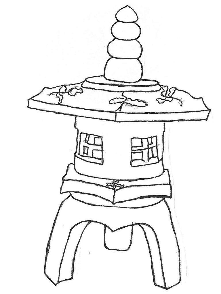 """Large Ming Lantern - 43"""" high"""