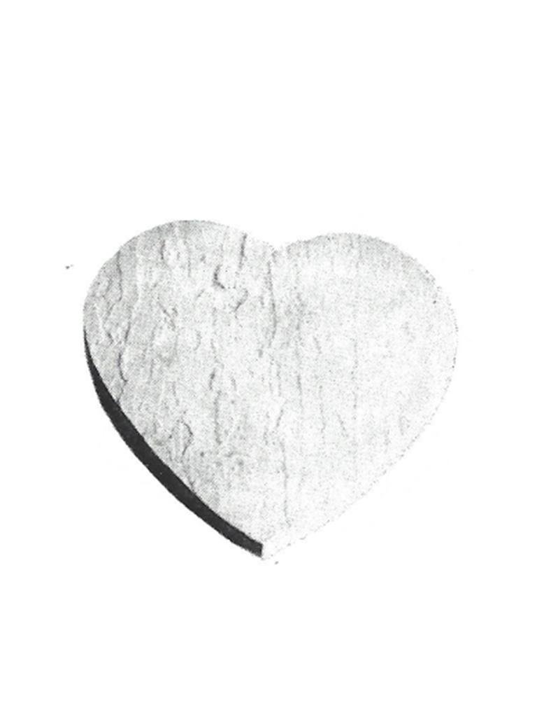 Stepping Stone - Slate Heart Stone - 18""