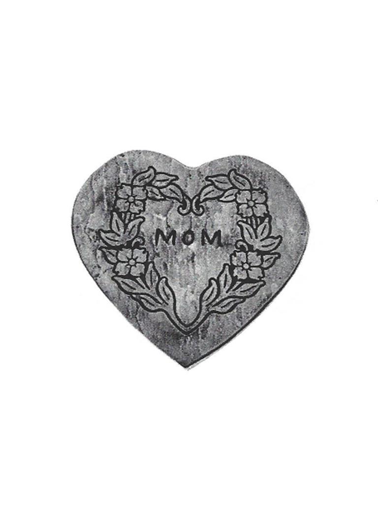"""Mom Heart Stone - 18"""""""